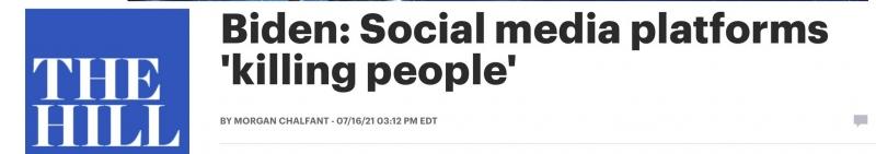 他们正在杀人拜登炮轰脸书等社交媒体平台